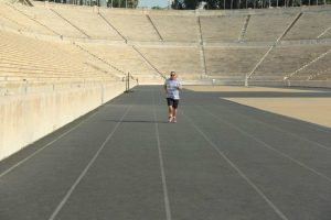 running Panathenaic Stadium