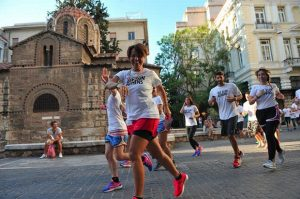 running in monastiraki