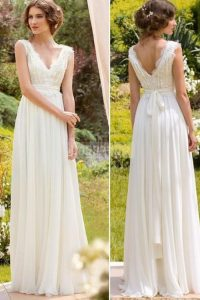 a-line sleeveless wedding dress