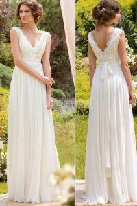 a-line sleeveless wedding dress