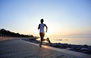 running before wedding
