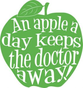 a apple a days keeps the doctor away