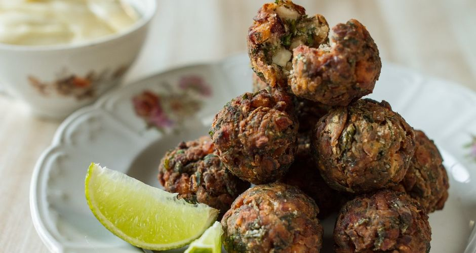 Octopus fritters